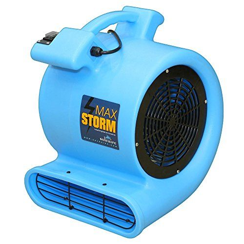 Soleaire Max2915 High Velocity Air Mover Carpet Dryer Floor Fan Blue Floor Fan Fan Outdoor Tools