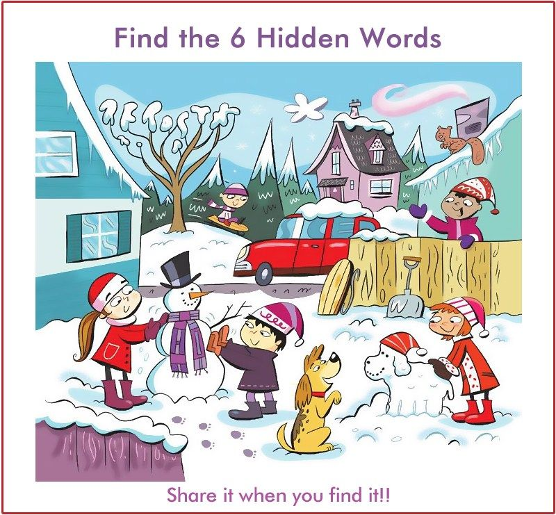 WhatsApp Riddle Find 6 Words Hidden in the Picture 6 겨울