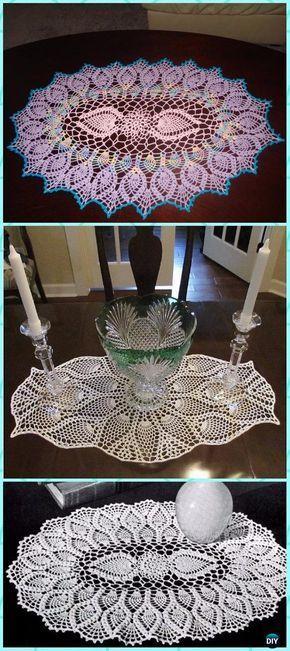 Crochet Oval Pineapple Doily Free Pattern Crochet Doily Free