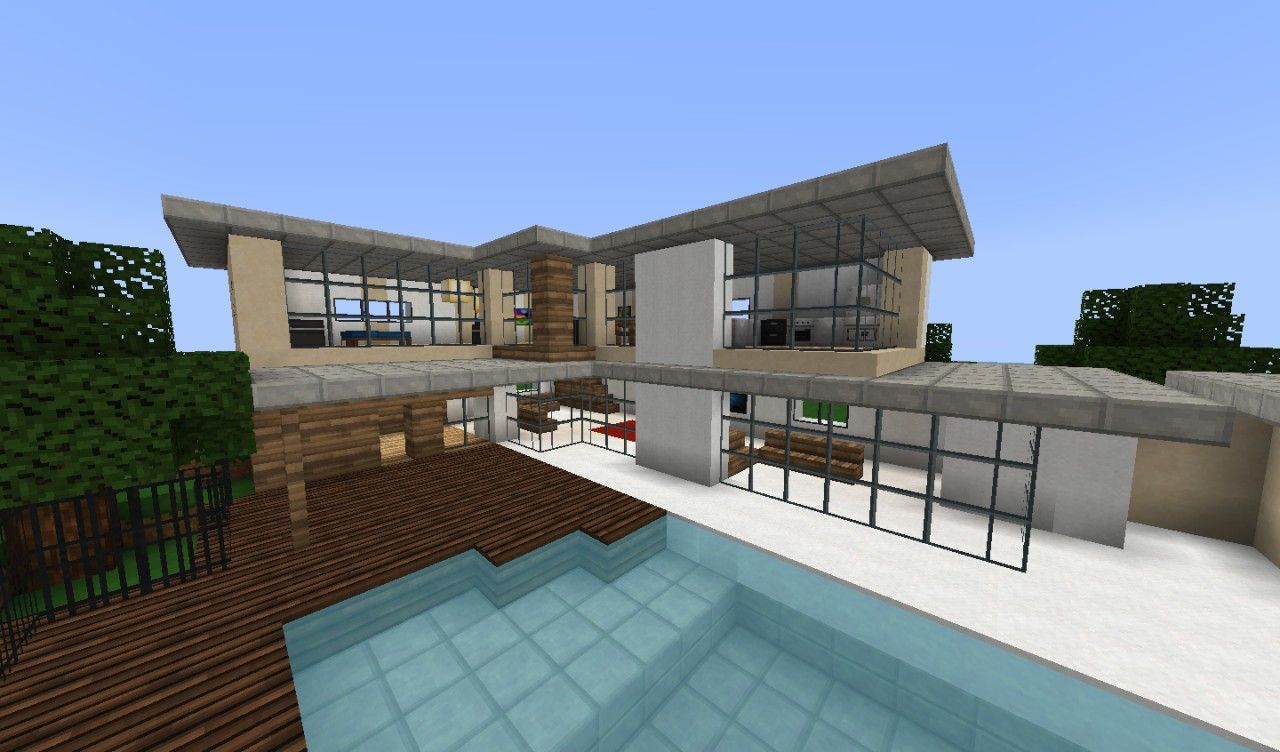 Minecraft Modern House Fancy Modern House Minecraft