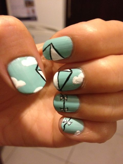 Nail art inspired by The Kite Runner by Khaled Hosseini - bookish ...