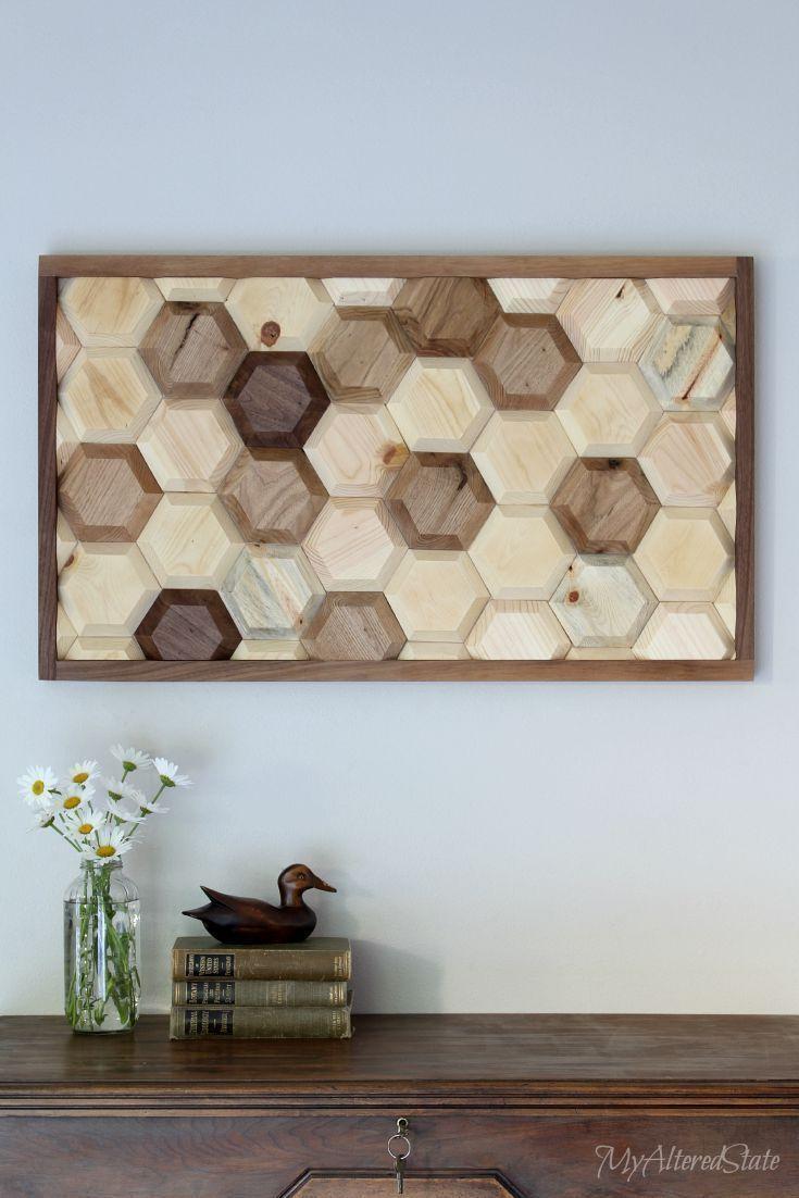 diy geometric wood art wood wall art wood walls and woods. Black Bedroom Furniture Sets. Home Design Ideas