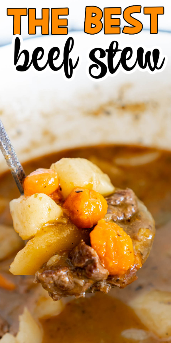 The best beef stew recipe you can make on your stove top! It's easy to make - just add ingredients and simmer! Just like old fashioned beef stew! #PerdueFarms #Perduefarms_Partner