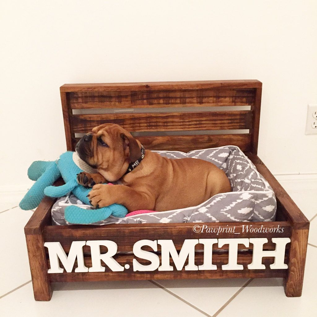 Customized Dog Bed Rustic Dog Bed Wood Dog Bed Pet Bed
