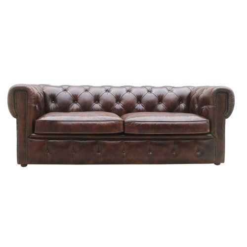 Cumberland Leather 3 Seater Chesterfield Sofa Borough Wharf Distressed Leather Sofa Quality Sofa Bed Chesterfield Sofa Bed