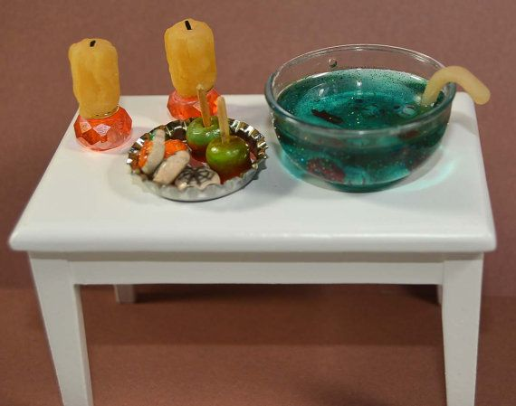 Halloween Party Dollhouse Miniature Includes: 2 by ArtfulSunshine