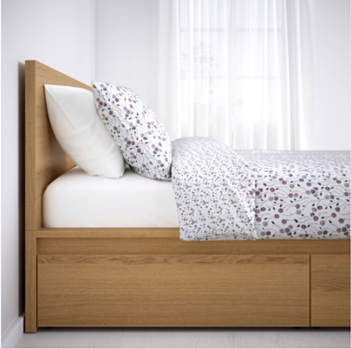 Ikea Malm Bed With Drawers Light Wood Color High Bed Frame Malm Bed Frame Malm Bed