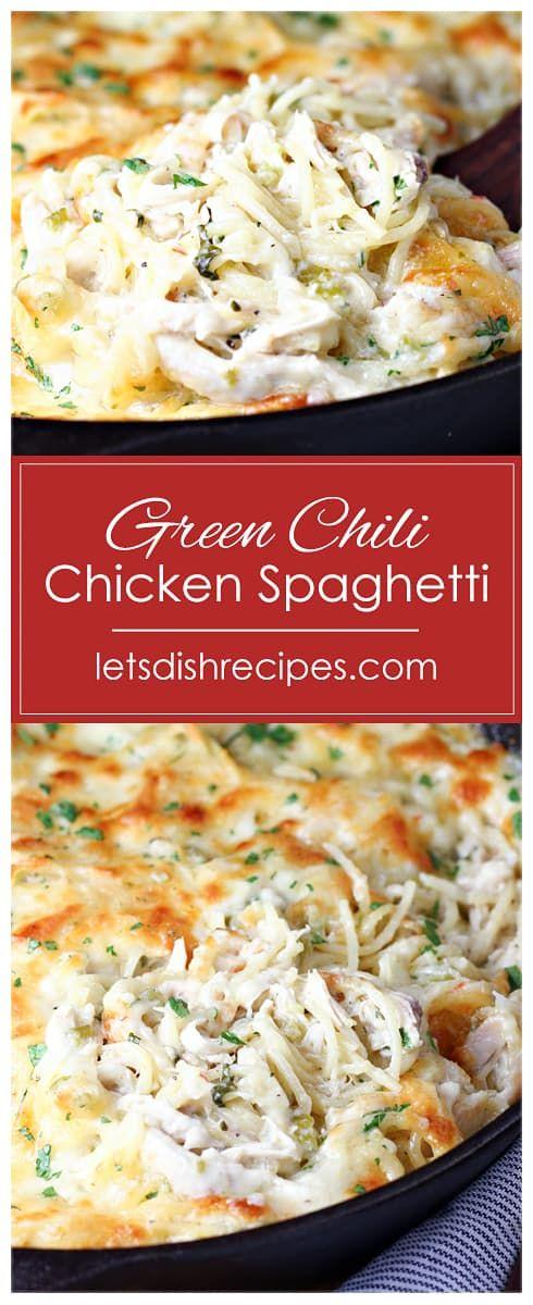 Green Chili Chicken Spaghetti | Recipe in 2020 | Green chili chicken, Spaghetti recipes, Chicken ...