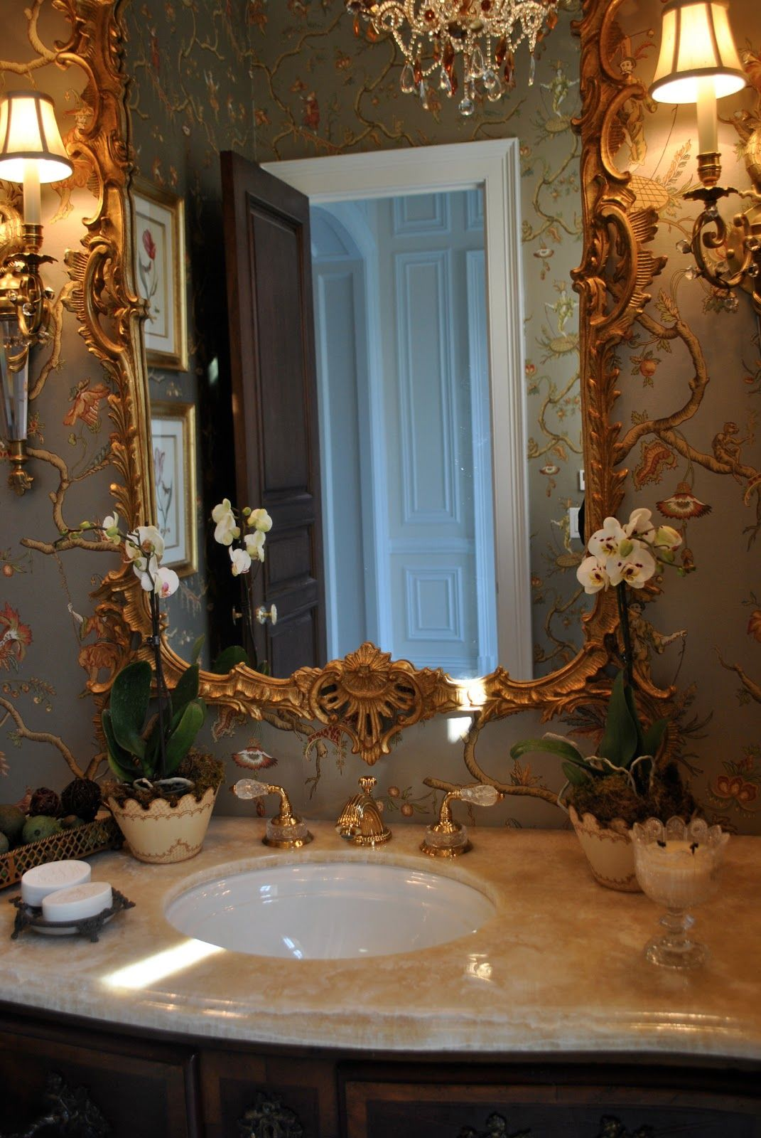 Miroir Sympa Salle De Bain ~  pingl par nina ljutic sur glam powder rooms pinterest salles