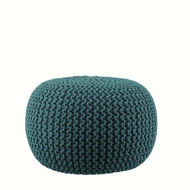 Lob Design Pouf.Knitted Pouff Petrol Lob Design Lob Interior