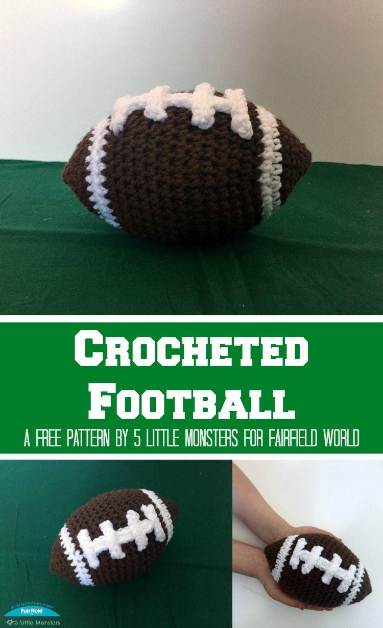 Crocheted Football 5 Little Monsters Crochet Kids Pinterest