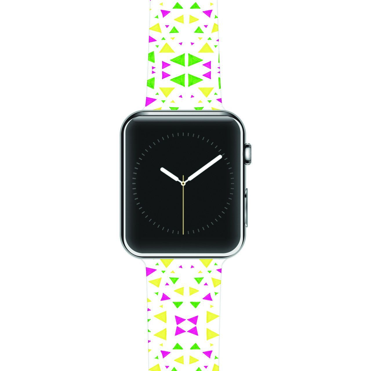 "Empire Ruhl ""Neon Triangles"" Pink Green Apple Watch Strap"