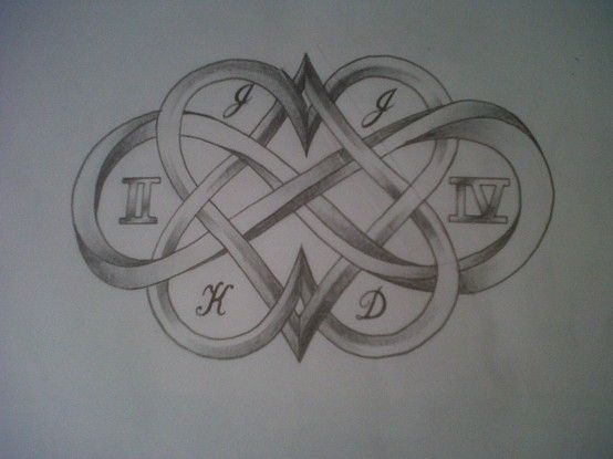 Hearts Infinity Sign Art Tattoos Drawingssketches