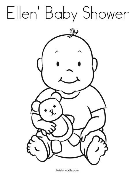 ellen baby shower coloring page twisty noodle