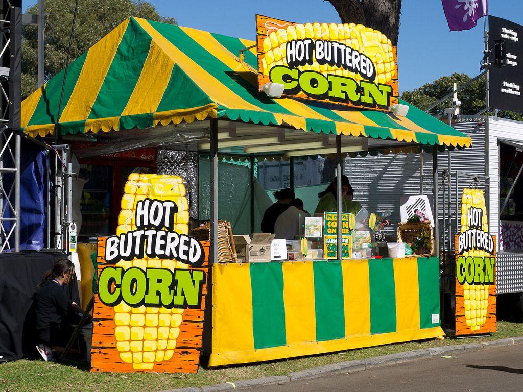 مشروع كشك ذرة Buttered Corn Broadway Shows Corn