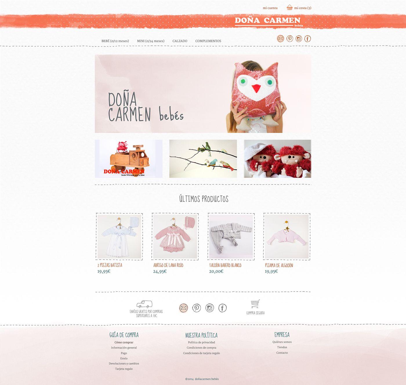 Diseño web doañacarmen.es #webdesign #ecommerce #prestashop #tiendaonline #ropabebes