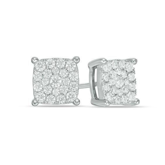 Zales 1/10 CT. T.w. Diamond Wishbone Stud Earrings in Sterling Silver I8EWR8n