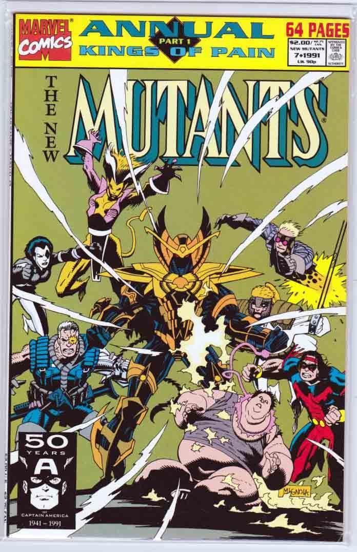 New Mutants Annual 7 1991 Mike Mignola Cover, Fabian
