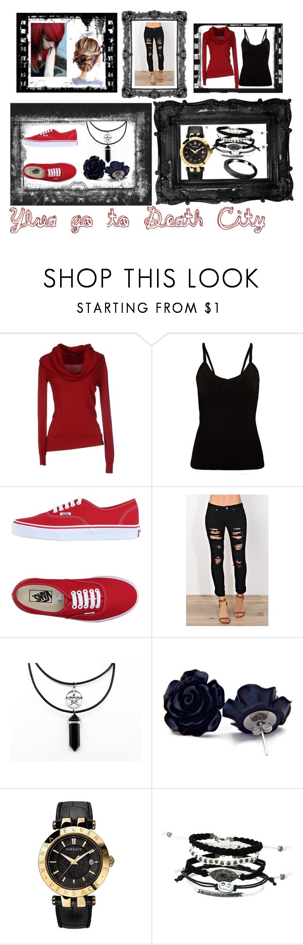 """Ylva looks"" by carmen-41-navarro ❤ liked on Polyvore featuring Vans and Versace"