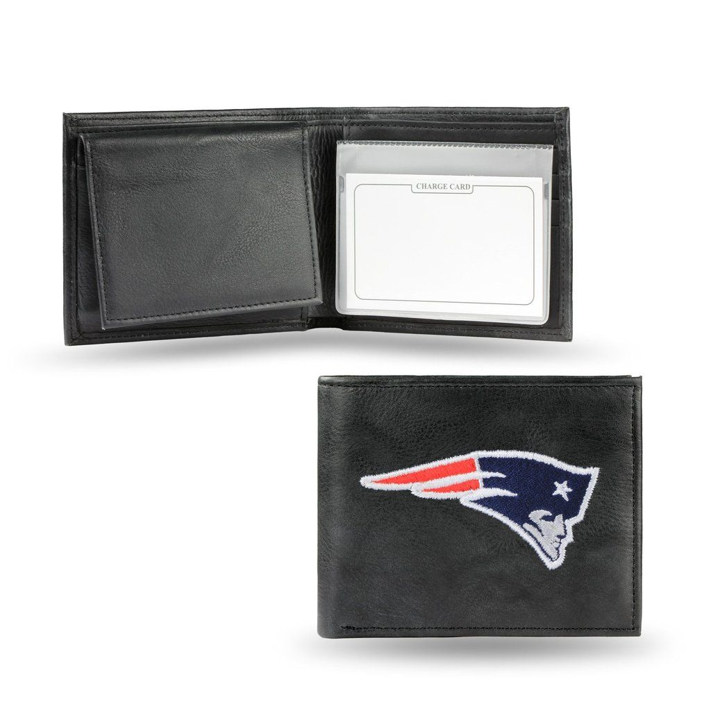 New England Patriots Wallet Billfold Leather Embroidered