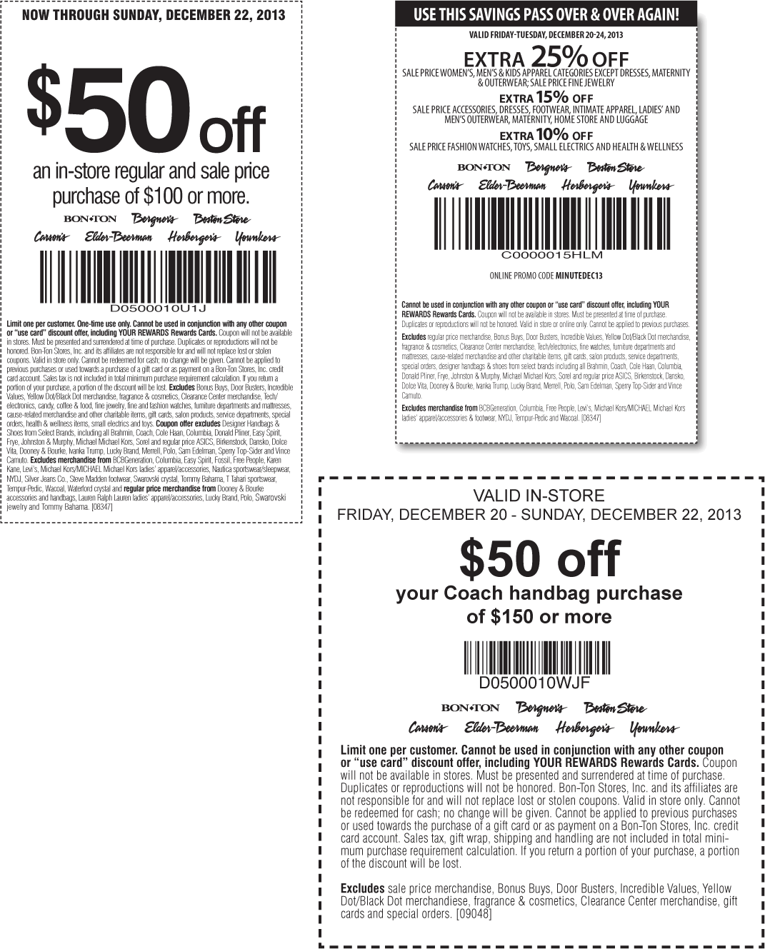 carsons coupon 50 off 100