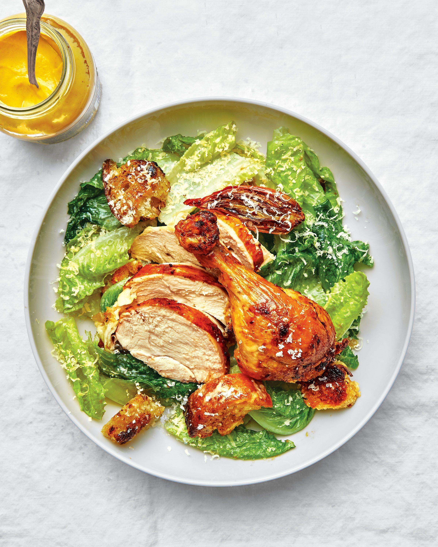 Caesar Salad Roast Chicken