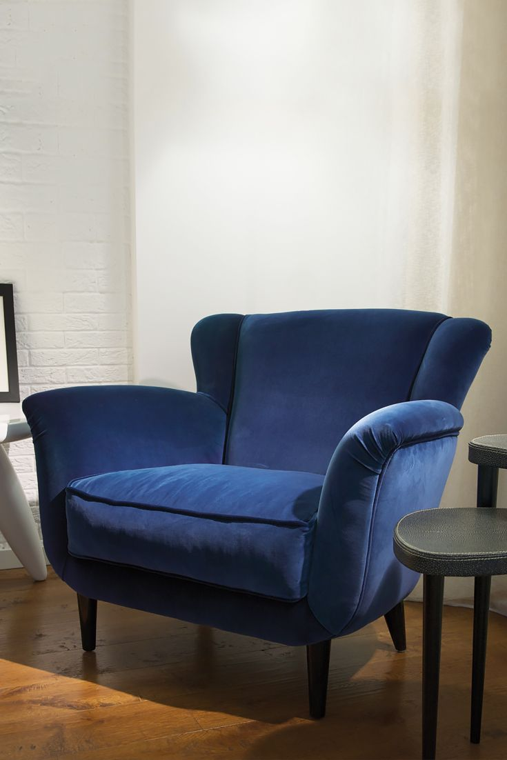 Luxurious Contemporary Blue Velvet Armchair In 2019 New Luxury