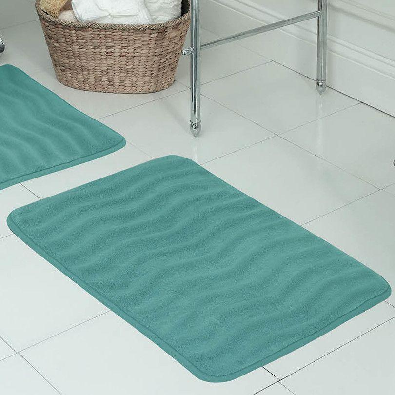 Waves Premium Micro Plush Memory Foam Bath Mat Memory Foam Bath