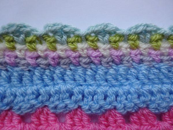 Linen Stitch Edging Crochet Edging Patterns Linen Stitch Crochet Blanket Edging