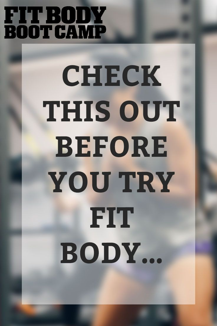 Why Fit Body? -   17 fitness Body boot camp ideas