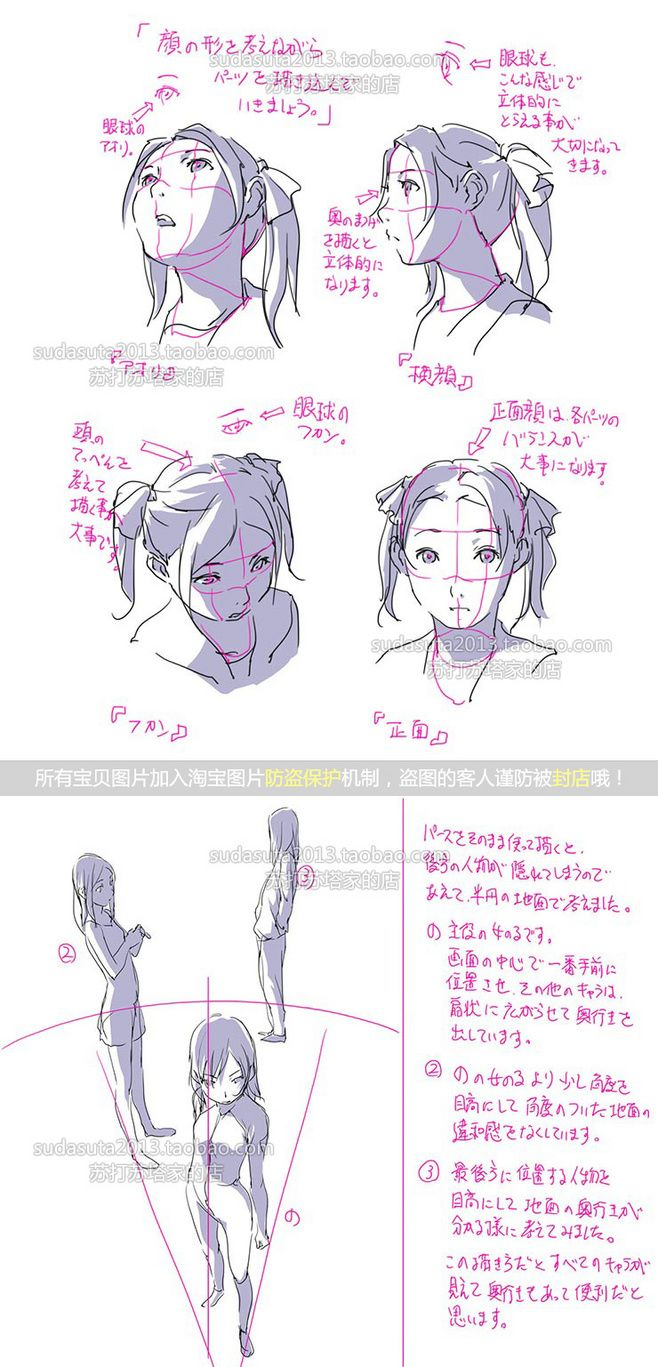 How to draw the shadows on a face when the light shines from ...