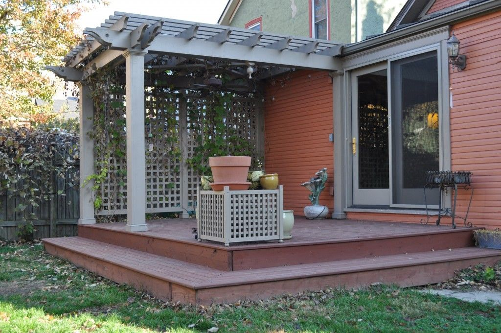 Small deck images rear deck and pergola build by kent for Patio plans and designs