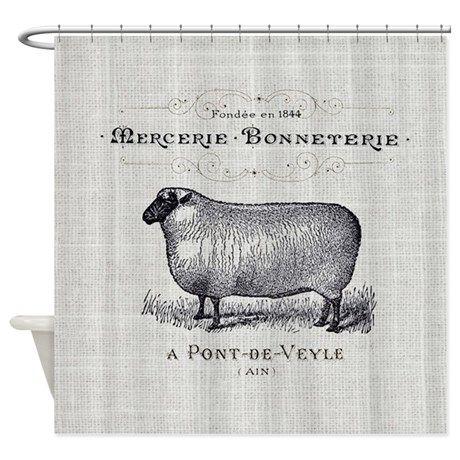 Farm Animal Sheep Farmhouse Shower Curtain On CafePress