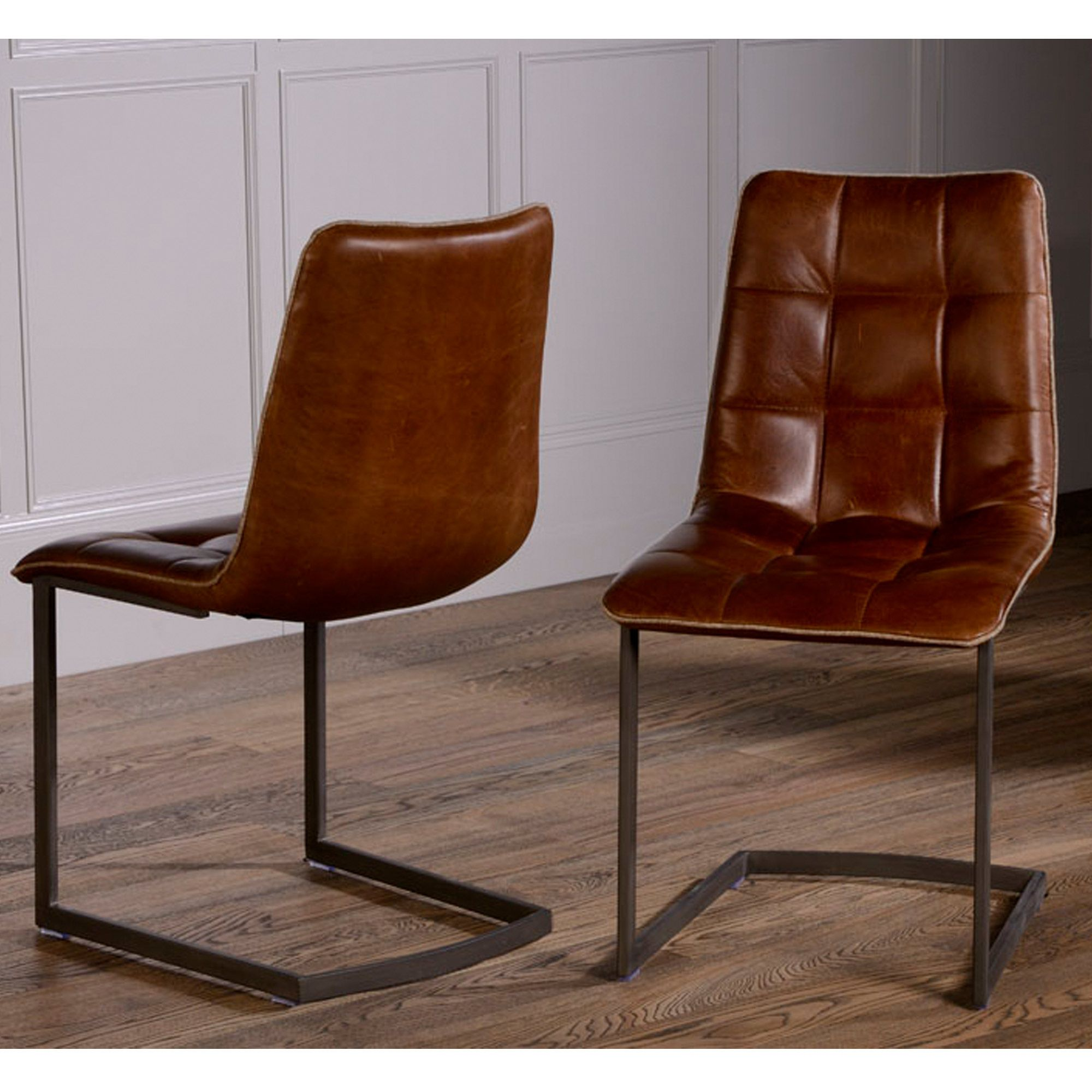 Dining Chairs Brown modern leather dining chairs, modloft modern & contemporary