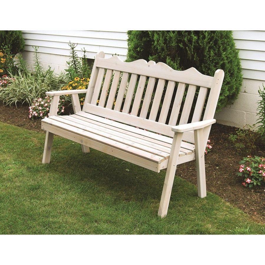 A L Furniture Co Western Red Cedar 4 Royal English Garden Bench Garden Bench Garden In The Woods Cedar Garden