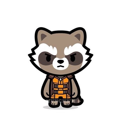 Cute Rocket Raccoon Coloring Page