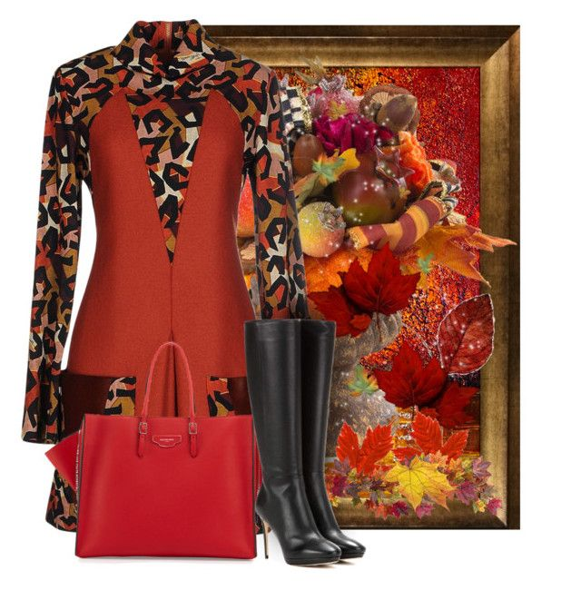 """""""Welcome Autumn!"""" by fashionrushs ❤ liked on Polyvore featuring MacKenzie-Childs, Just Cavalli, Nearly Natural, Balenciaga and Jimmy Choo"""