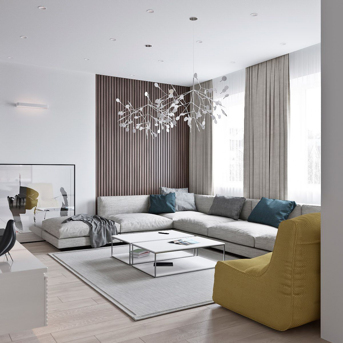 3 Light Interiors With Creative Pops Of Color Elegant Living