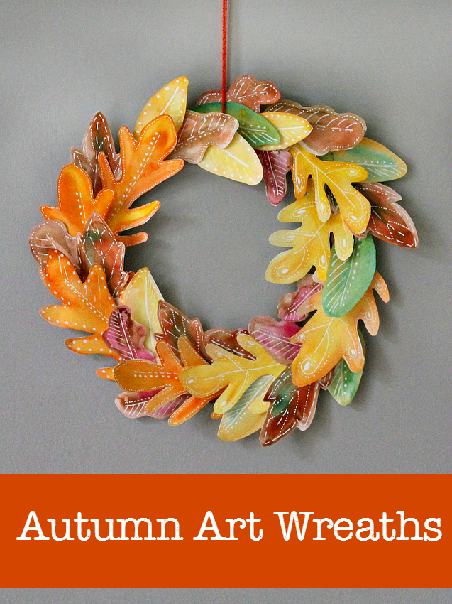 10 beautiful homemade fall wreath art projects fall art projects leaf. Black Bedroom Furniture Sets. Home Design Ideas