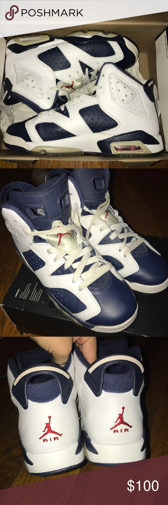 1823e94c09698a ... where to buy air jordan 6 retro olympic worn a couple of times only  flaw is