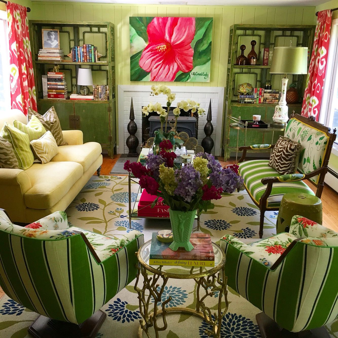 A Sunny And Perfect Day In Our Colorful Living Room, With