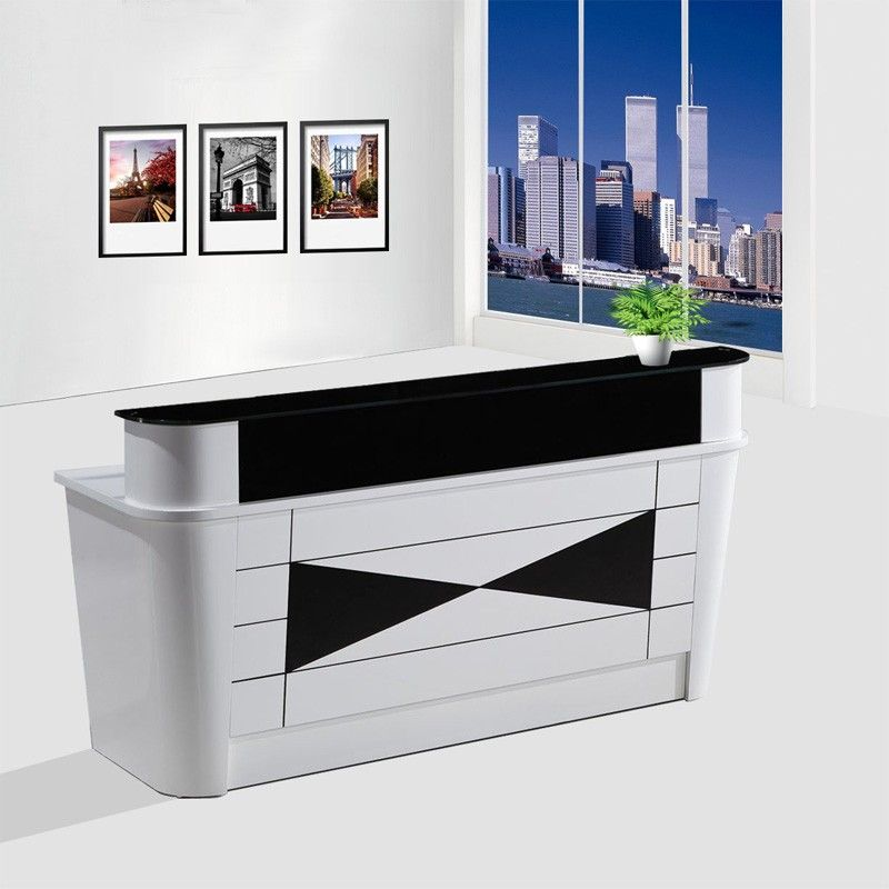 Top Quality Commercial Small Office Front Desk Wooden Modern Spa Reception