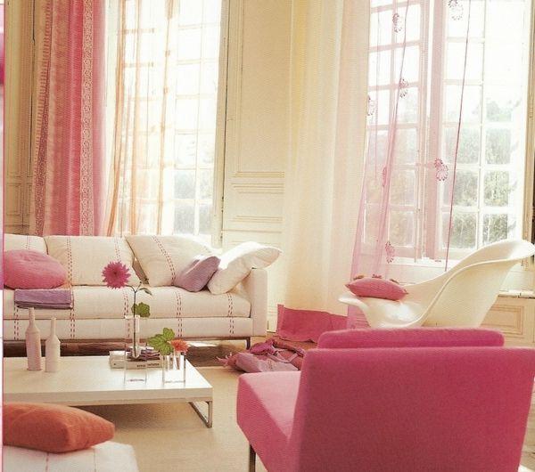 süßes-rosa-fürs-wohnzimmer | dekorasyon... | pinterest | deko ... - Wohnzimmer Deko Rosa