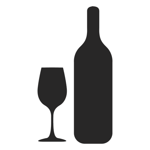 Wine Bottle Glass Silhouette Ad Affiliate Paid Bottle Glass Silhouette Wine Flat Icon Wine Logo Wine Bottle Glass