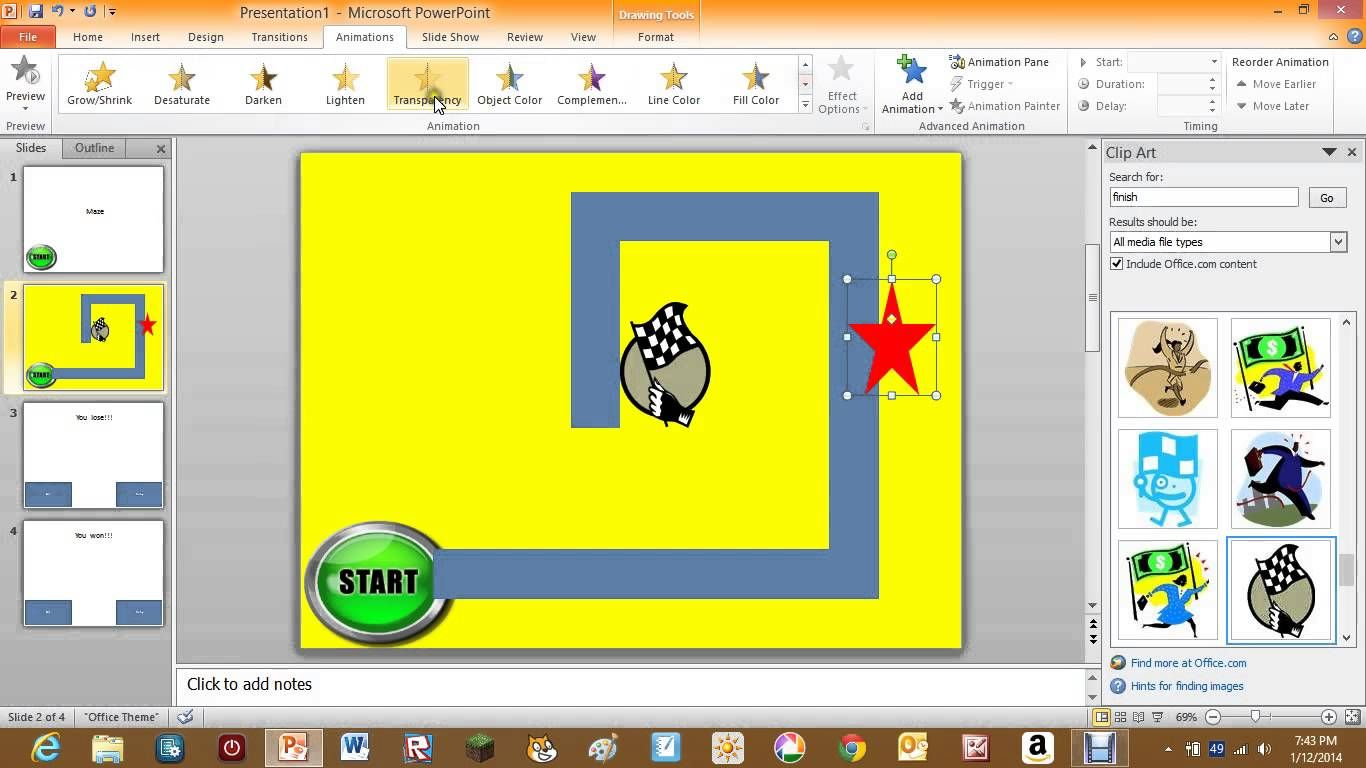 How To Make A Maze Game On Powerpoint 2010 Powerpoint 2010 Interactive Powerpoint Powerpoint