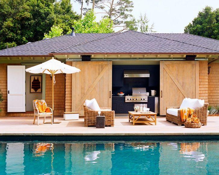 Wick Design Pools Pool Cabana Sliding Barn Doors