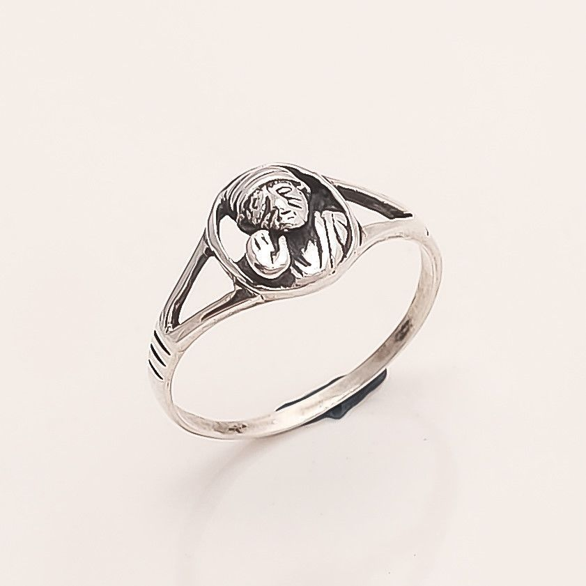 Birthstone Ring for Her Women Sterling Silver or 22k Gold Plated Ring Handmade engraved flower pattern Stacking Ring Silver,
