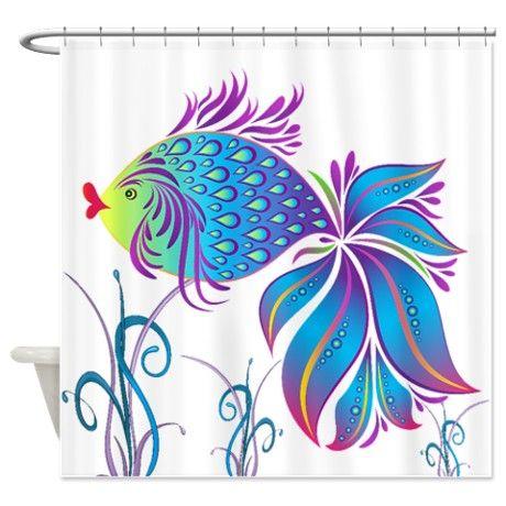 Tropical Fish Shower Curtain On Cafepress Com Beach Shower