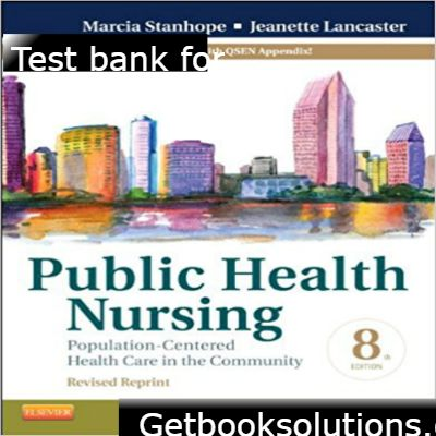 test bank for public health nursing revised reprint 8th edition by