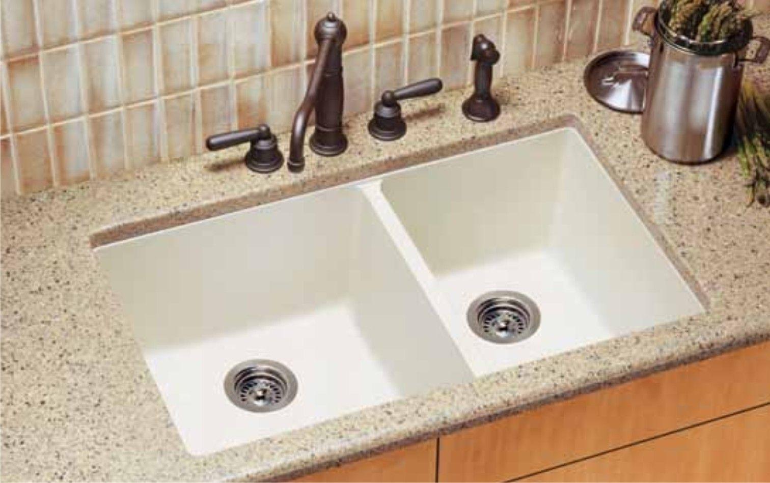 White granite composite kitchen sinks